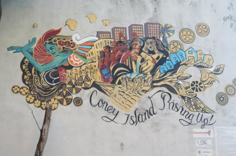 Coney island rising up groundswell for Coney island mural